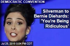 Silverman to Bernie Diehards: 'You're Being Ridiculous'