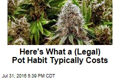 Here's What a (Legal) Pot Habit Typically Costs