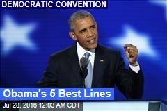 Obama's 5 Best Lines