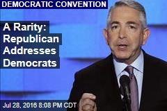 A Rarity: Republican Addresses Democrats