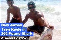 New Jersey Teen Reels in 200-Pound Shark