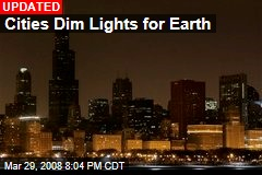 Cities Dim Lights for Earth