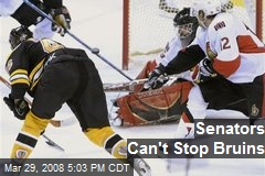Senators Can't Stop Bruins