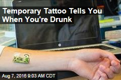Temporary Tattoo Tells You When You've Drank Too Much