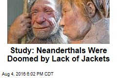 Study: Neanderthals Were Doomed by Lack of Jackets