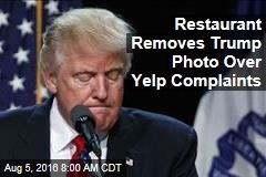 Restaurant Removes Trump Photo Over Yelp Complaints