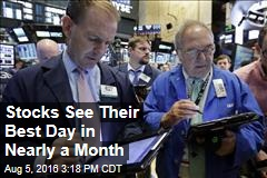 Stocks See Their Best Day in Nearly a Month