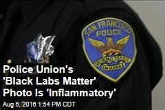 Police Union's 'Black Labs Matter' Photo Is 'Inflammatory'