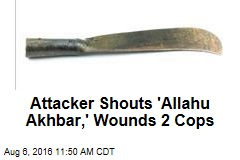 Attacker Shouts 'Allahu Akhbar,' Wounds 2 Cops