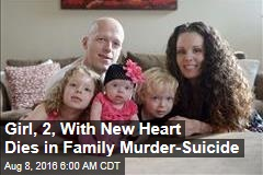 Girl, 2, With New Heart Dies in Family Murder-Suicide