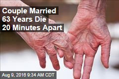 Couple Married 63 Years Die 20 Minutes Apart