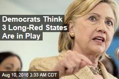 Clinton Steps Up Fight to Flip 2 Red States