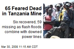 65 Feared Dead in Tanzania Mine