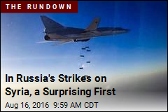 In Russia's Strikes on Syria, a Surprising First