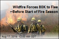 Wildfire Forces 80K to Flee