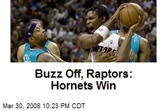 Buzz Off, Raptors: Hornets Win