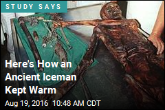 Here's How an Ancient Iceman Kept Warm