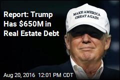 Report: Trump Has $650M in Real Estate Debt