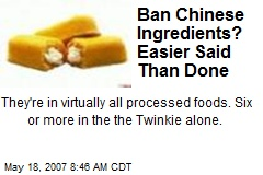 Ban Chinese Ingredients? Easier Said Than Done
