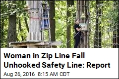 Woman in Zip Line Fall Unhooked Safety Line: Report