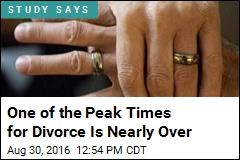 One of the Peak Times for Divorce Is Nearly Over