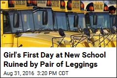 Mom Irate Over School's Issue With Her Girl's Leggings