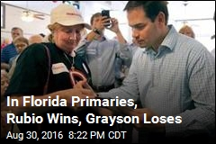 In Florida Primaries, Rubio Wins, Grayson Loses