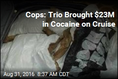 Cops: Trio Brought $23M in Cocaine on Cruise
