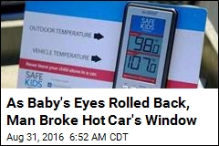 Passerby Uses Sledgehammer on Hot Car to Free Baby Inside