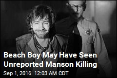 Beach Boy Claims Bandmate Saw Charles Manson Killing