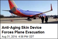 Anti-Aging Skin Device Forces Plane Evacuation
