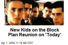 New Kids on the Block Plan Reunion on 'Today'
