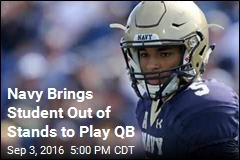 Navy Brings Student Out of Stands to Play QB