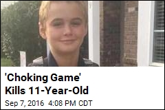 'Choking Game' Kills 11-Year-Old