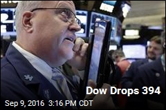 Dow Drops 394