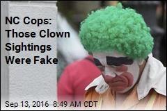NC Cops: Those Clown Sightings Were Fake