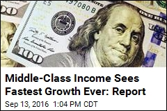 Middle-Class Income Sees Fastest Growth Ever: Report