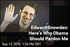 Edward Snowden: Here's Why Obama Should Pardon Me