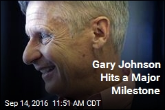 Gary Johnson Hits a Major Milestone
