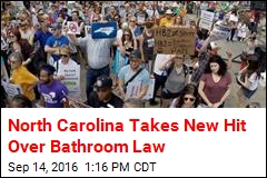 North Carolina Takes New Hit Over Bathroom Law
