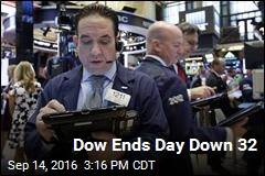 Dow Ends Day Down 32