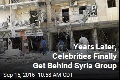 Years Later, Celebrities Finally Get Behind Syria Group