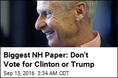 Biggest NH Newspaper Endorses Gary Johnson