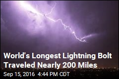 World's Longest Lightning Bolt Traveled Nearly 200 Miles