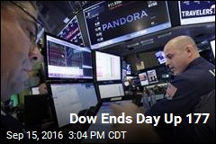 Dow Ends Day Up 177