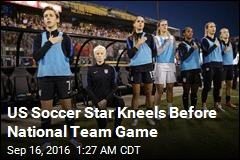 US Soccer Star Kneels Before National Team Game