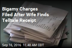 Bigamy Charges Filed After Wife Finds Telltale Receipt