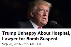 Trump: Suspect Will Get 'Amazing Hospitalization'