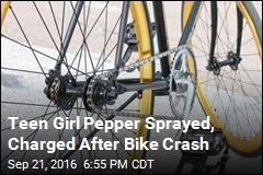 Teen Girl Pepper Sprayed, Charged After Bike Crash