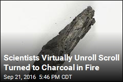 Scientists Virtually Unroll Scroll Turned to Charcoal in Fire